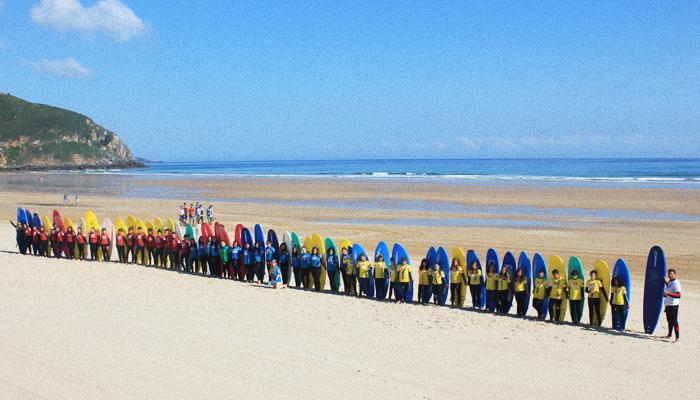 Cursos de Surf para grupos Cantabria