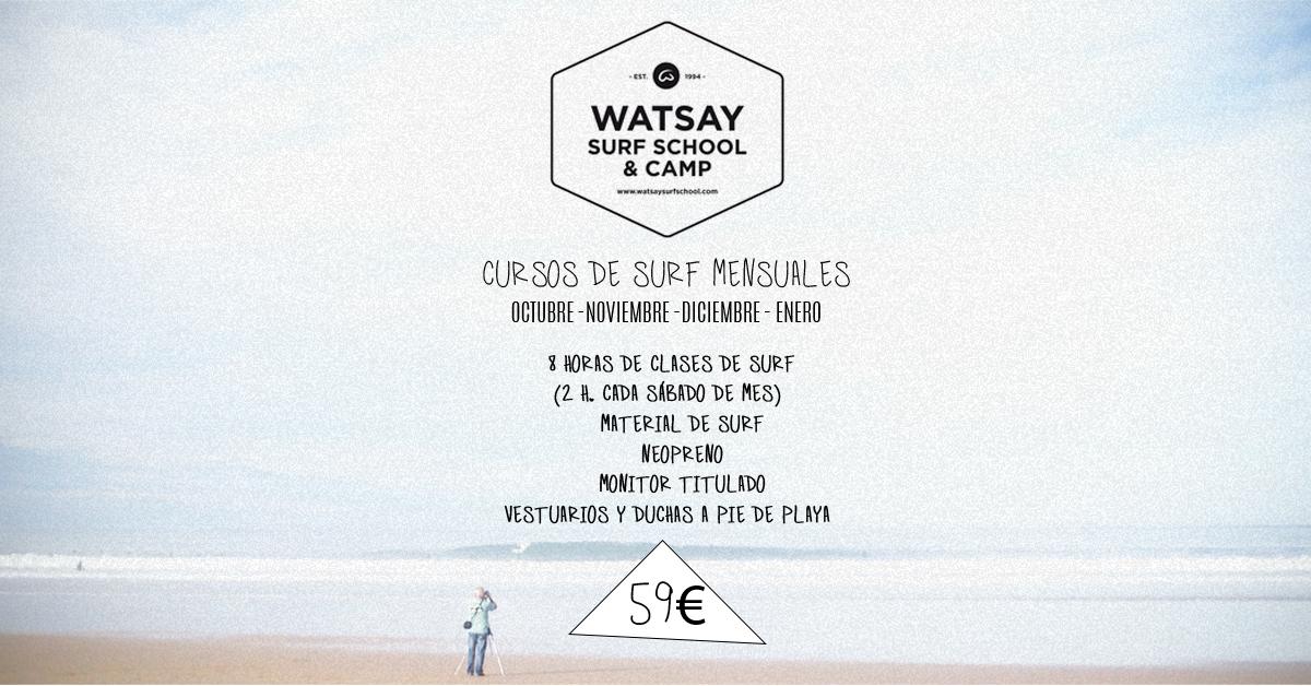 Cursos de surf mensuales - Playa de Berria