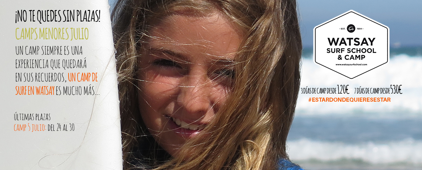 Escuela de Surf -Campamentos Julio- Promoción