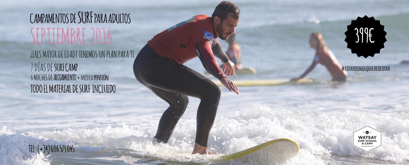 Campamentos de surf para adultos septiembre