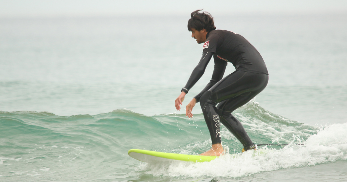 Mejorar la puesta en pie surf