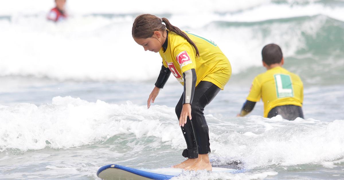 Beneficios del surf para niños