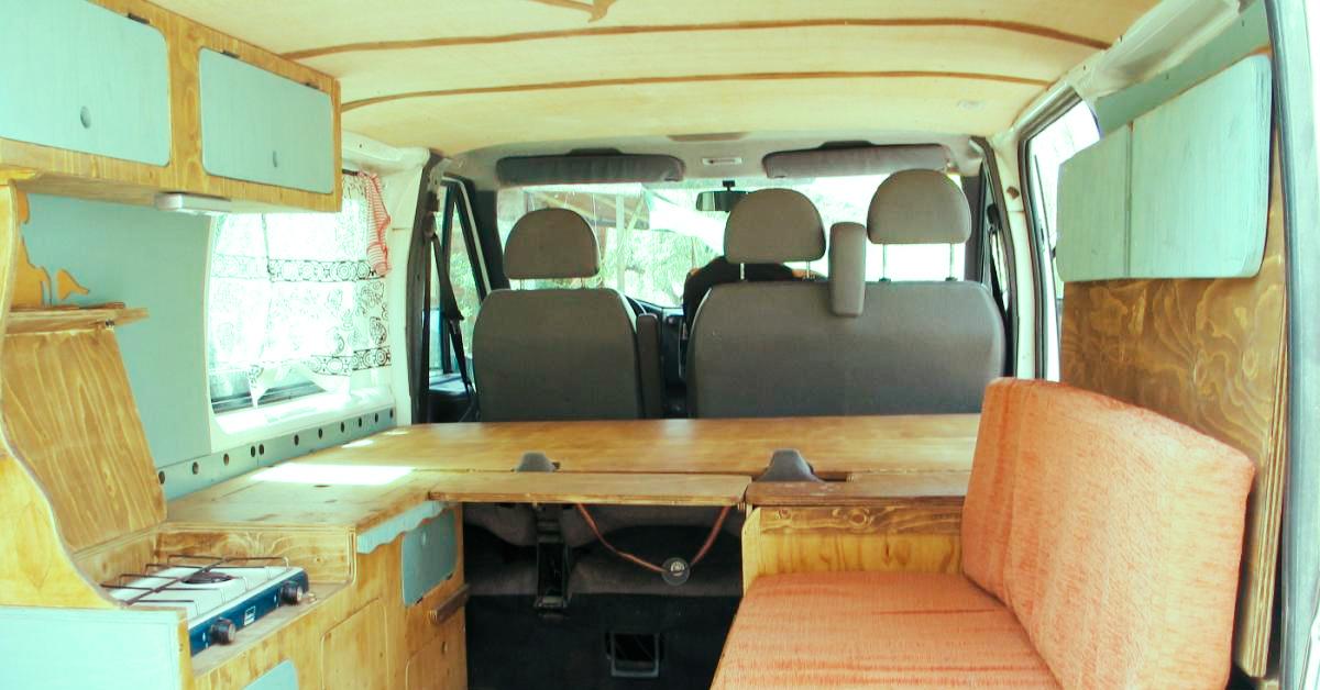 furgoneta surfera - Cocina