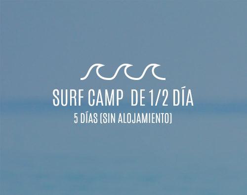 Campamentos de surf de medio día