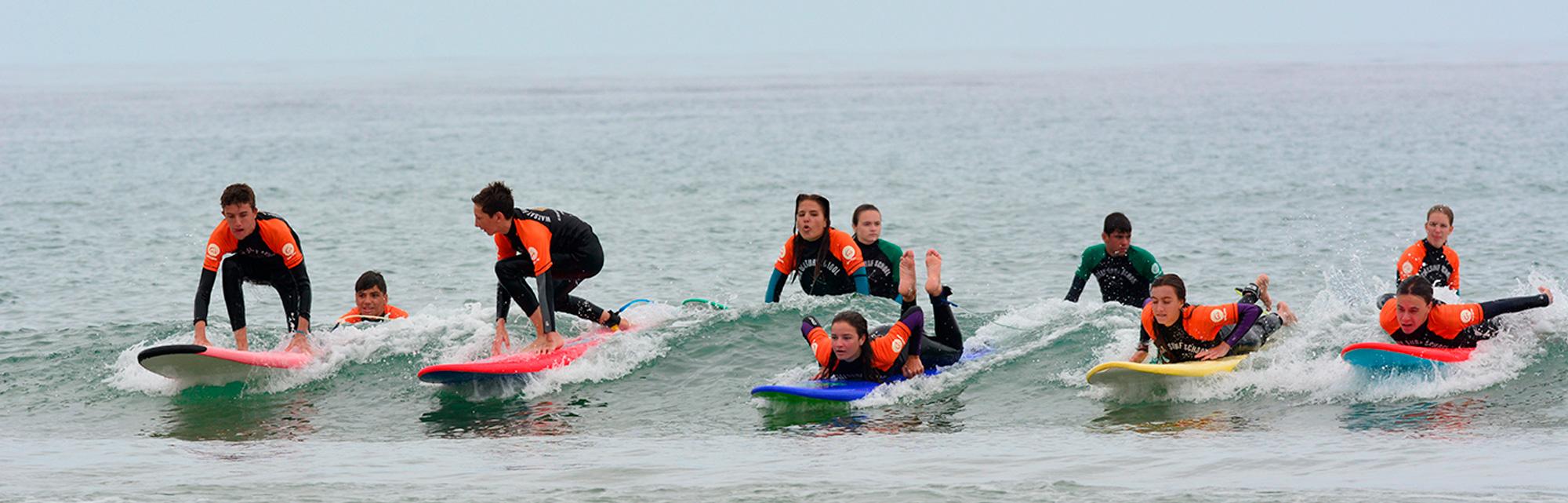 Campamentos de verano de surf cantabria
