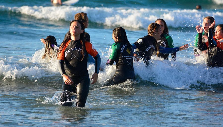 Cursos de surf menores 12 a 17 años