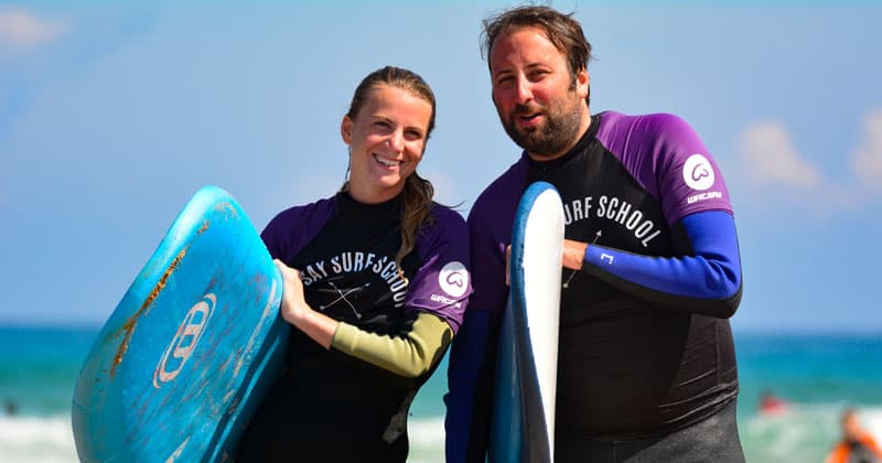 Cursos de surf adultos Berria