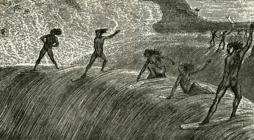 Historia del surf femenino: Mujeres surfeando
